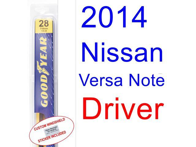 how to change wiper blades nissan versa