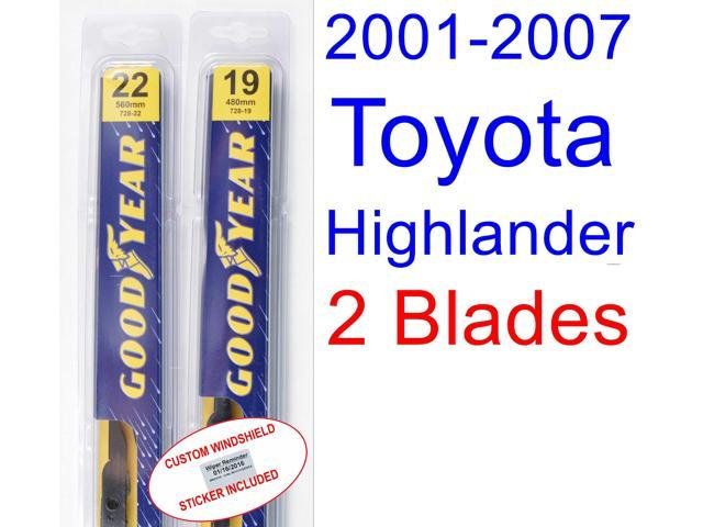 Wiper blades for toyota highlander 2005