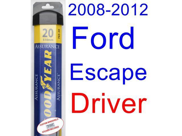 2008 2012 ford escape wiper blade passenger goodyear wiper blades assurance 2009 2010 2011. Black Bedroom Furniture Sets. Home Design Ideas