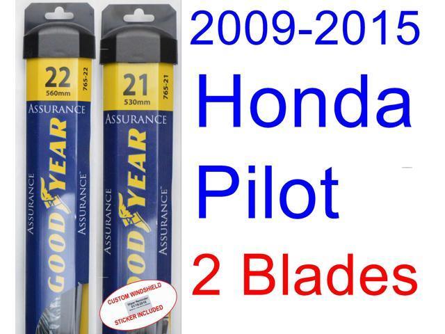 2009 2015 Honda Pilot Replacement Wiper Blade Set Kit Set Of 2 Blades Goodyear Wiper Blades