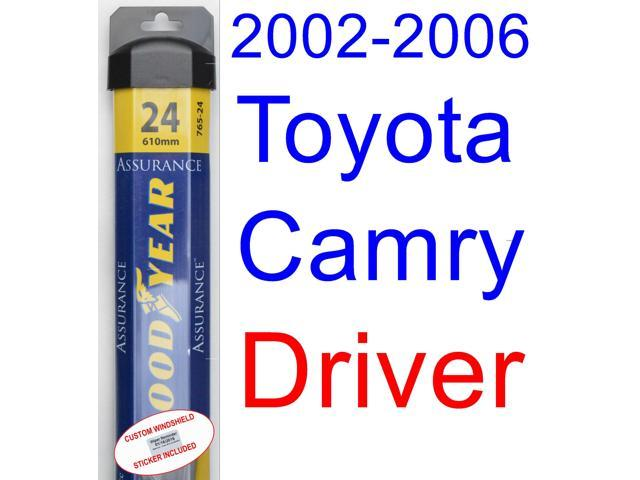 toyota camry 2006 wiper blade size promotion toyota camry. Black Bedroom Furniture Sets. Home Design Ideas