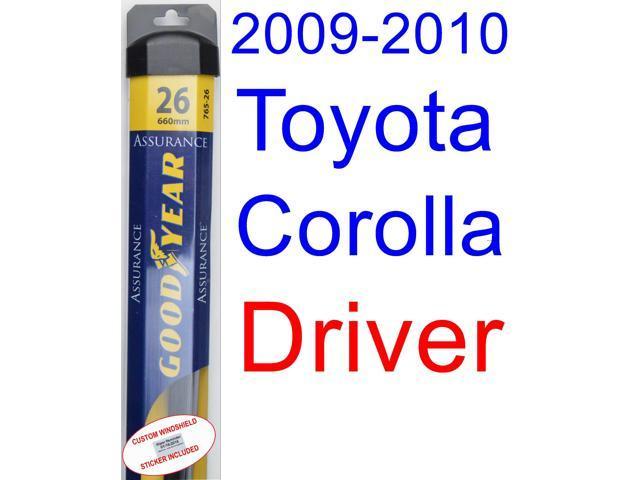 2009 2010 toyota corolla xle wiper blade driver goodyear wiper blades assurance. Black Bedroom Furniture Sets. Home Design Ideas