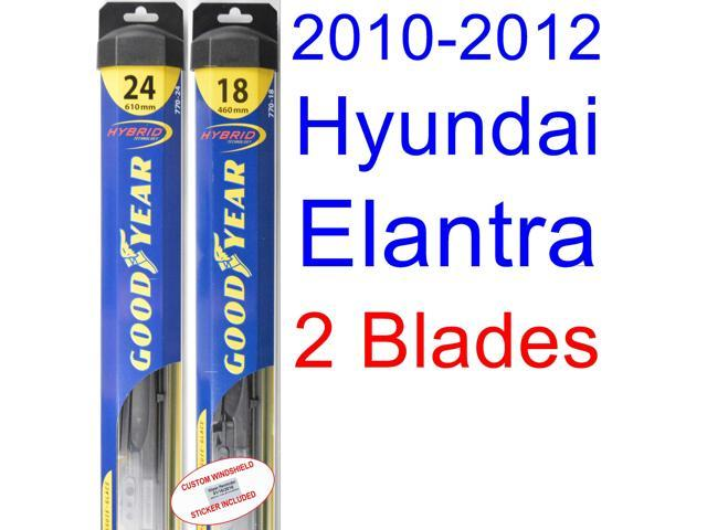 2010 2012 Hyundai Elantra Touring Gls Replacement Wiper Blade Set Kit Set Of 2 Blades