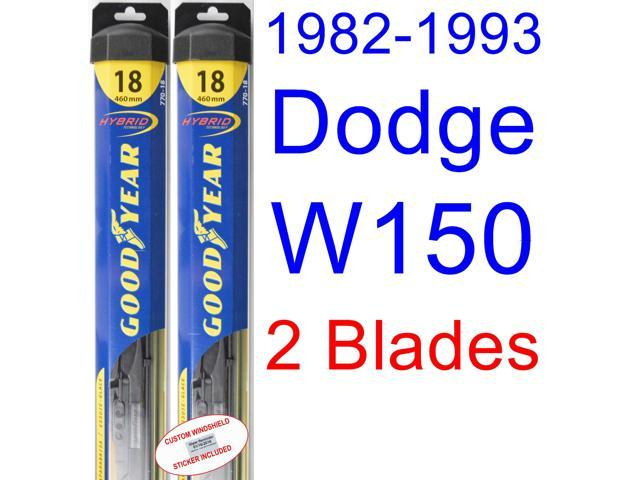 1982 1993 dodge w150 replacement wiper blade set kit set of 2 blades