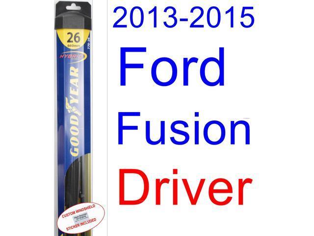 Goodyear Windshield Wipers >> 2013-2015 Ford Fusion Wiper Blade (Driver) (Goodyear Wiper Blades-Hybrid) (2014) - Newegg.com
