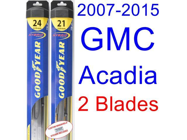 Goodyear Windshield Wipers >> 2007-2015 GMC Acadia Replacement Wiper Blade Set/Kit (Set of 2 Blades) (Goodyear Wiper Blades ...
