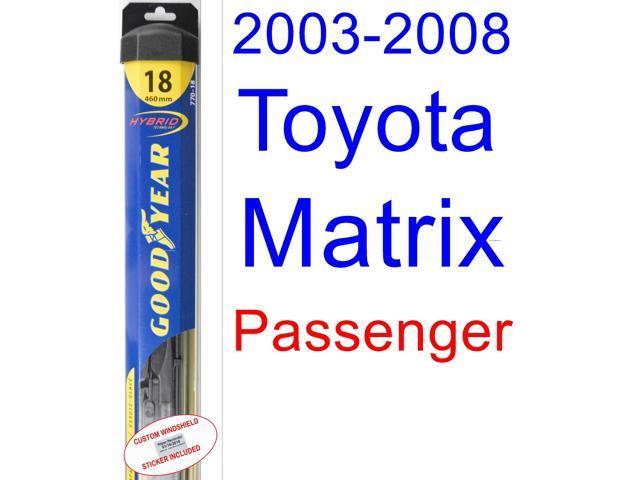 2003 2008 toyota matrix wiper blade passenger goodyear. Black Bedroom Furniture Sets. Home Design Ideas
