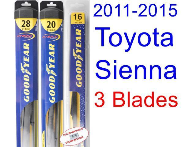how to change sienna 2011 wiper blades