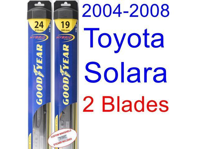 2004 2008 toyota solara replacement wiper blade set kit. Black Bedroom Furniture Sets. Home Design Ideas
