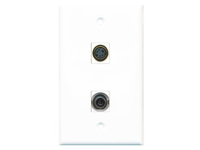 RiteAV - 1 Port S-Video 1 Port 3.5mm Wall Plate