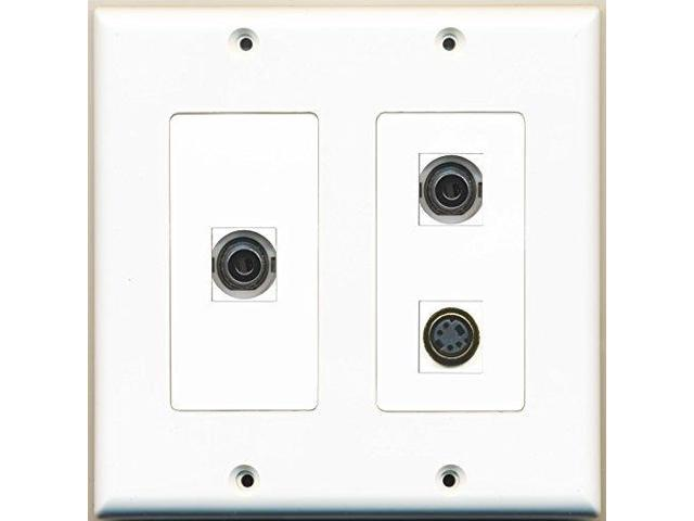 RiteAV - 1 Port S-Video 2 Port 3.5mm - 2 Gang Wall Plate