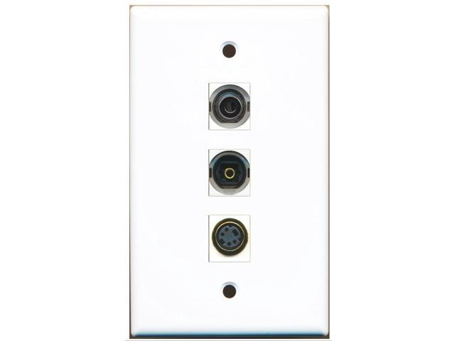 RiteAV - 1 Port S-Video and 1 Port Toslink and 1 Port 3.5mm Wall Plate