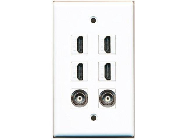 RiteAV - 4 HDMI 2 Port BNC Wall Plate