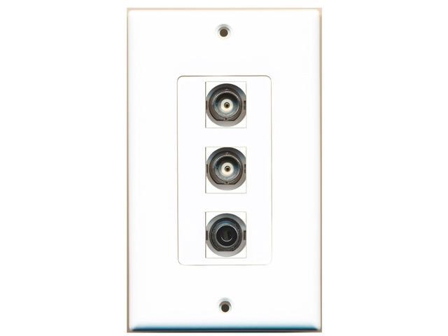 RiteAV - 1 Port 3.5mm 2 Port BNC Decora Wall Plate Decora