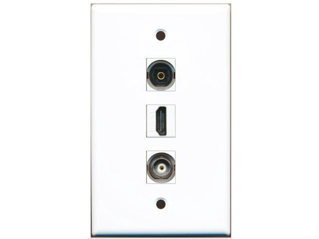 RiteAV - 1 Port HDMI and 1 Port Toslink and 1 Port BNC Wall Plate