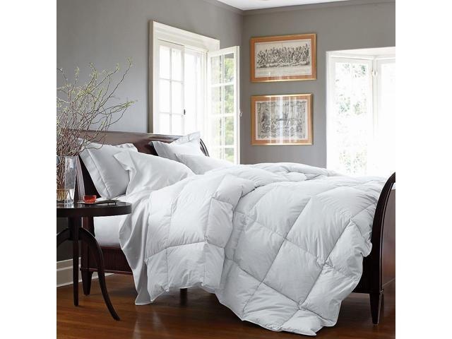 home collection baffle box alternative goose down comforter king ivory - Down Comforter King