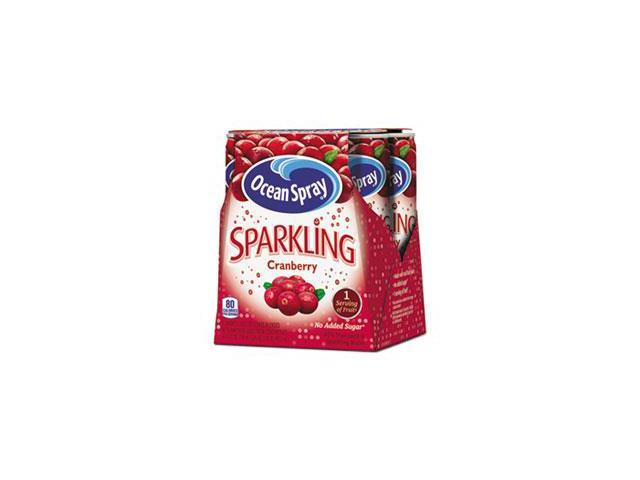 Sparkling Cranberry Juice, 8.4 Oz Can, 4/pack By: Ocean Spray - Newegg ...