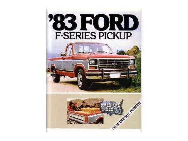 1983 ford f series truck sales brochure literature. Black Bedroom Furniture Sets. Home Design Ideas