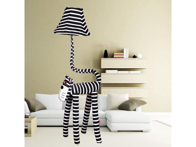 Cute stripe cat children 39 s room floor lamp cartoon fabric for Kids room floor lamp