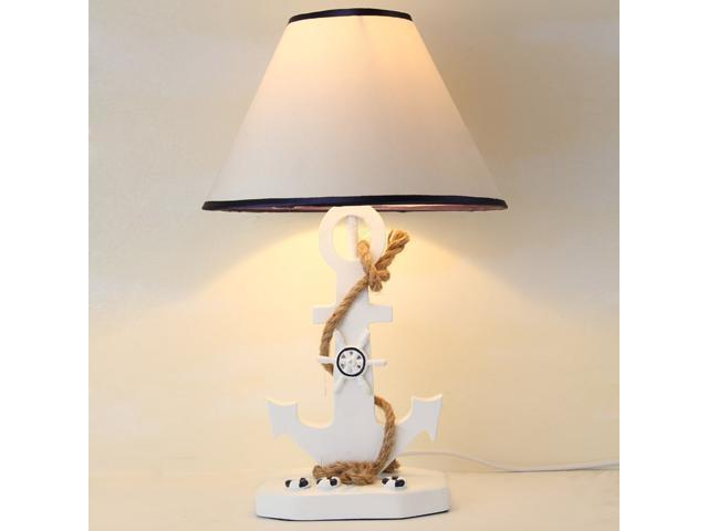 Mediterranean anchors boys room desk lamp cute cartoon kids room desk light bedroom table lamp