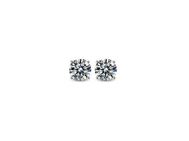 Pascollato Jewelry 4Mm-Small/Medium Round Cut Cubic Zirconia Cz Sterling Silver Stud Earrings Women Men Kids Dif Sz SE1980