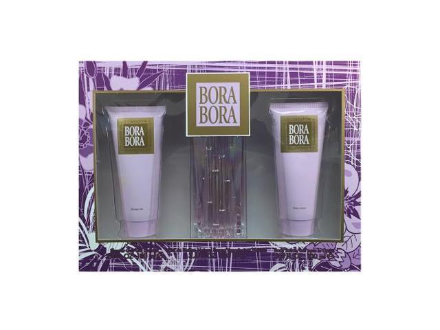 Bora Bora By Liz Claiborne - 3 PIECE GIFT SET - 3.4 OZ EAU DE PARFUM SPRAY, 3.4 OZ BODY LOTION, 3.4 OZ SHOWER GEL