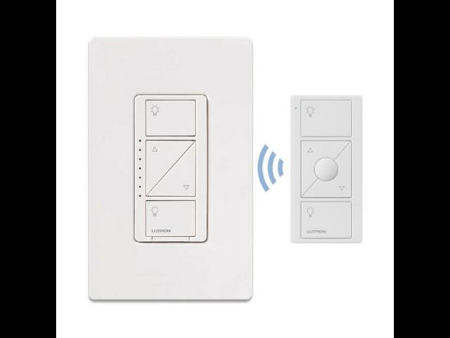 lutron p pkg1w wh caseta wireless dimmer switch starter kit. Black Bedroom Furniture Sets. Home Design Ideas