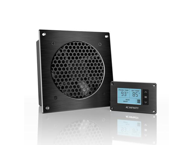 AC Infinity AIRPLATE T3, Quiet Cooling Fan System With Thermostat Control,  For Home Theater