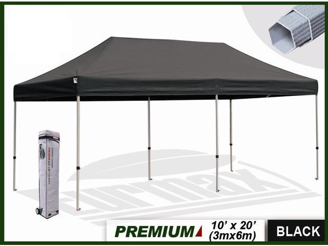 Ez Up Canopy 10x20 >> Black Pop Up Canopy Tent 10x10 Eurmax Black Pop Up Canopy With