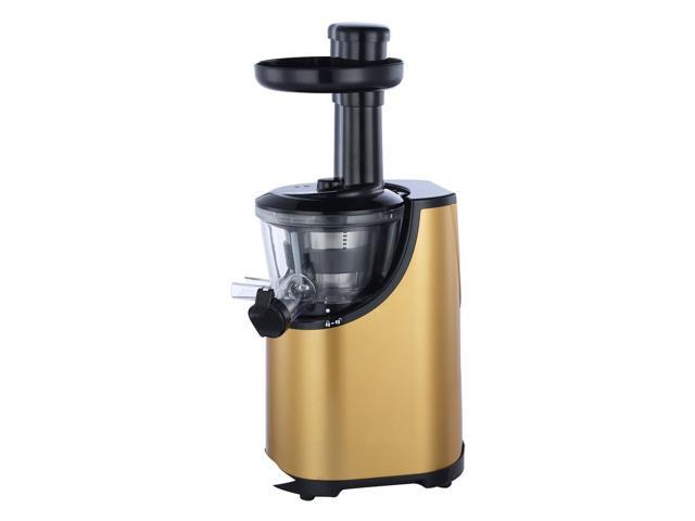 Obreko vertical Single Auger Low Speed Masticating Juicer Stainless Steel Compact Juice Fountain ...