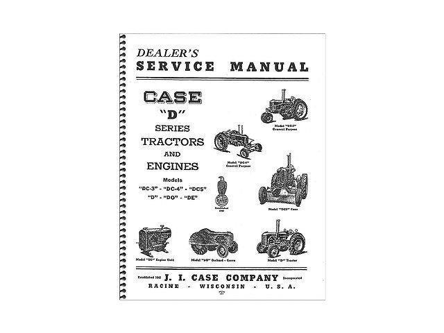 New Service Manual Reprint Made for Case-IH Tractor Models D DC DH DI DO L LA +