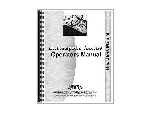New Minneapolis Moline Kombination Tractor Operator Manual (MM-O-KOMB)
