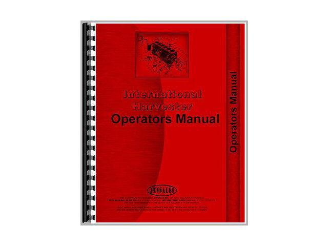 New International Harvester UD817 Tractor Operator Manual