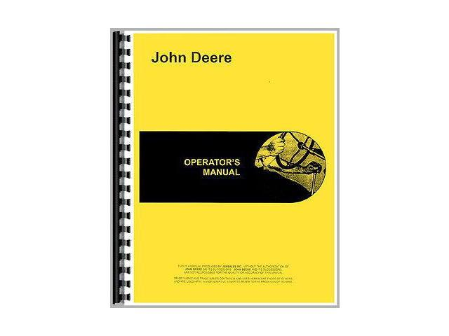 New Operator Manual For John Deere Tractor W