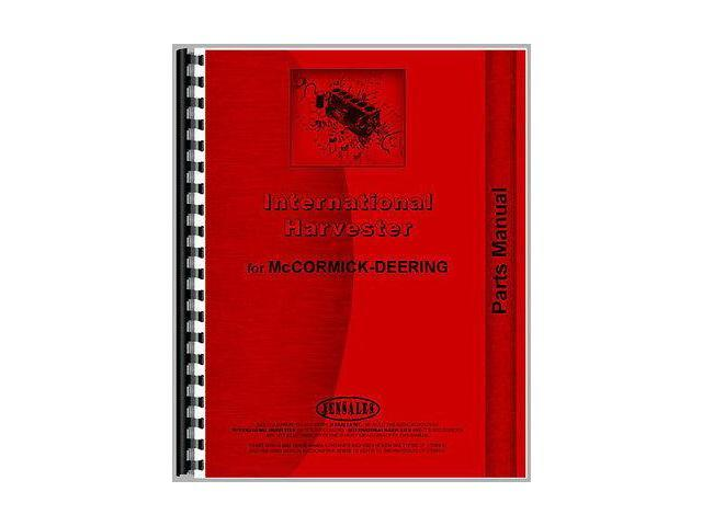 New McCormick Deering 16-8 Tractor Parts Manual