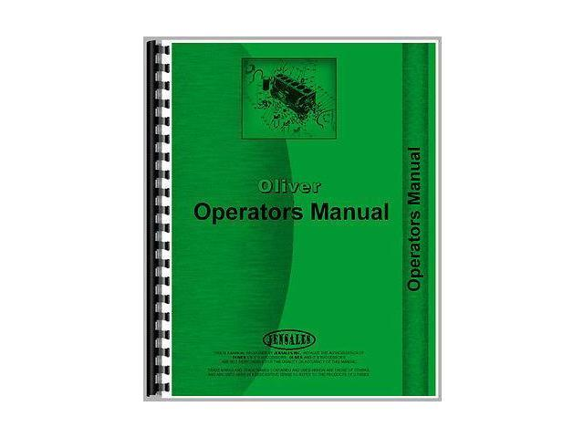 New Oliver 1250-A Diesel Utility Orchard FWA Tractor Operator's Manual
