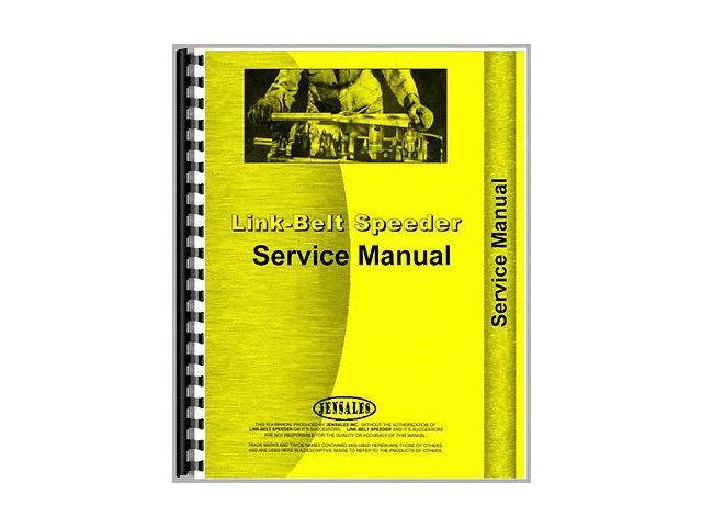 New Link Belt Speeder K300 Industrial/Construction Service Manual