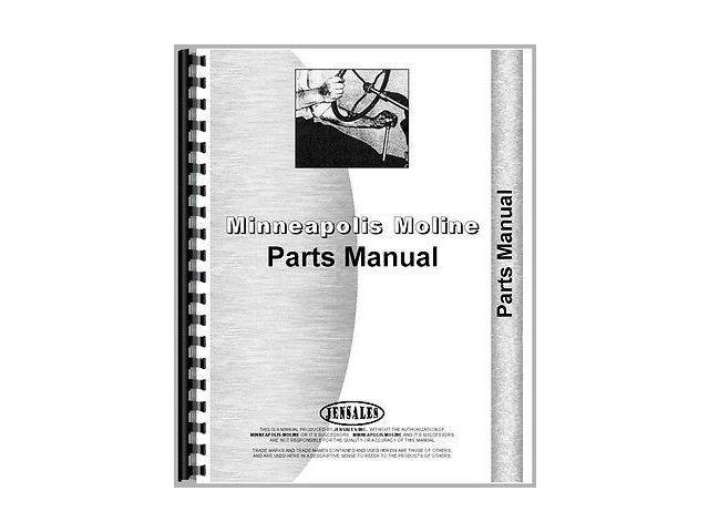 New Minneapolis Moline GB Tractor Parts Manual