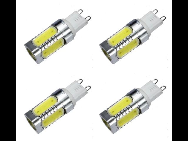 g9 type base 7 5 watts led light bulb warm white 2 pin 120v 240v capsule lamp us uk 4 pack. Black Bedroom Furniture Sets. Home Design Ideas