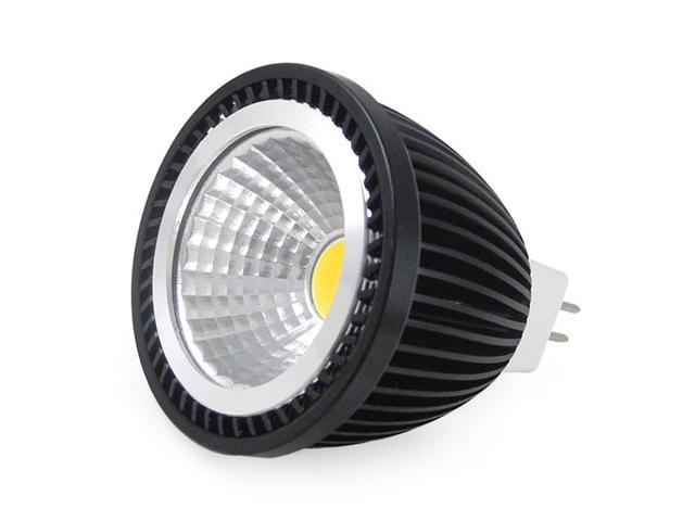 dc 12v cob 7w led black low heat aluminum spot light bulb mr16 gu53. Black Bedroom Furniture Sets. Home Design Ideas