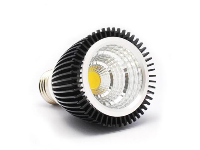 dc 12v cob 7w led black low heat aluminum spot light bulb par16 50mm. Black Bedroom Furniture Sets. Home Design Ideas