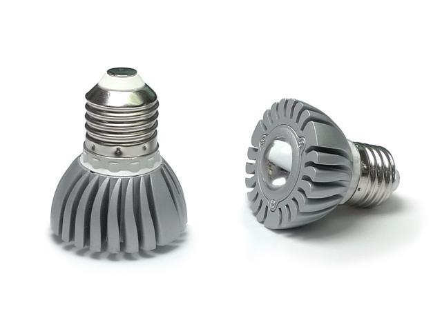 ac dc 12 volt 3 watt 3w x 1 cluster led light bulb e26 e27 par16 screw. Black Bedroom Furniture Sets. Home Design Ideas