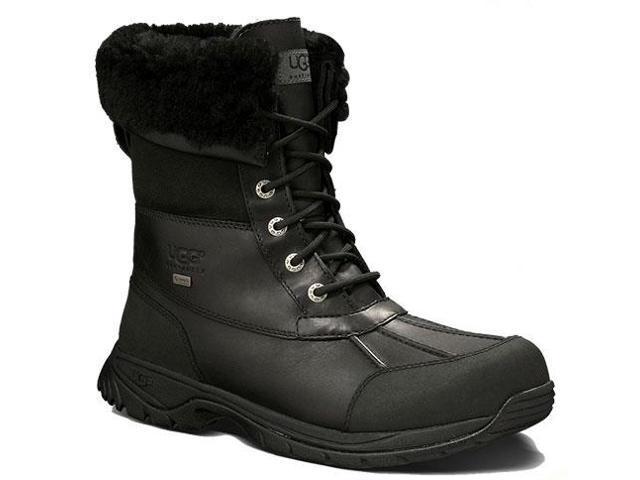 UGG Australia Men's Butte Black Waterproof Boots 9 M US - OEM