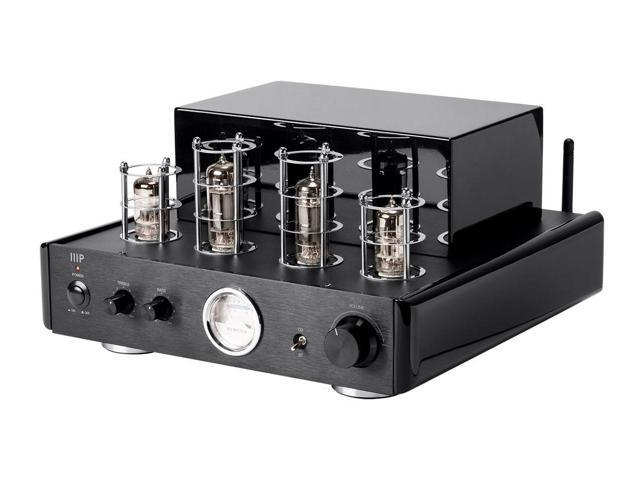 monoprice tube amp with bluetooth 50 watt stereo hybrid and line output. Black Bedroom Furniture Sets. Home Design Ideas