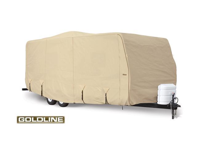 Goldline Travel Trailer Cover - Tan  - Fits 365