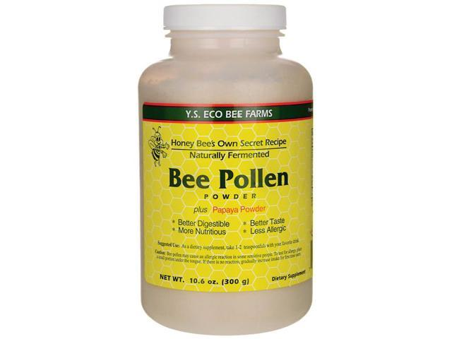 Naturally Fermented Bee Pollen - YS Eco Bee Farms - 10 oz - Powder