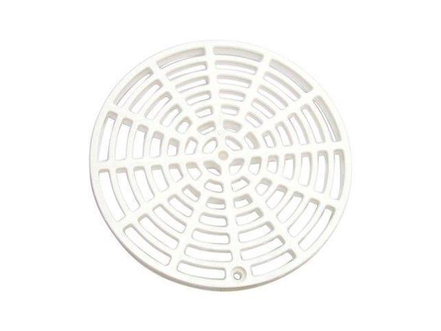 Sioux chief floor drain cover 6 1 8 white polypropylene for 10 floor drain cover