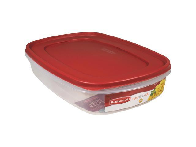 Rubbermaid 24 Cup Rectangle Easy Find Lid Food Storage Container  1777163
