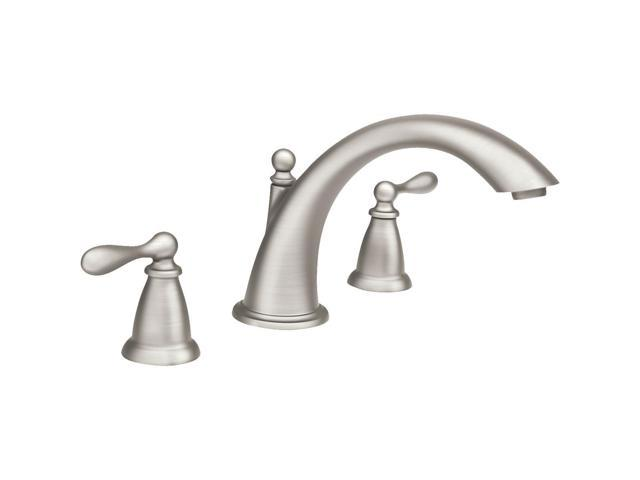Moen 86440SRN Spot Resist Two-handle High Arc Roman Tub Faucet from ...