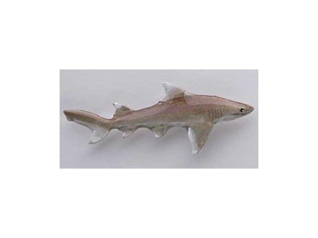 Lemon Shark Toys : Painted lemon shark lapel pin brooch sp